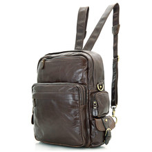 Men Cowhide Genuine Leather Backpack Top Grade Oil Wax Leather Women Unisex Vintage Backpack Casual Laptop Travel Tote Bag 2685
