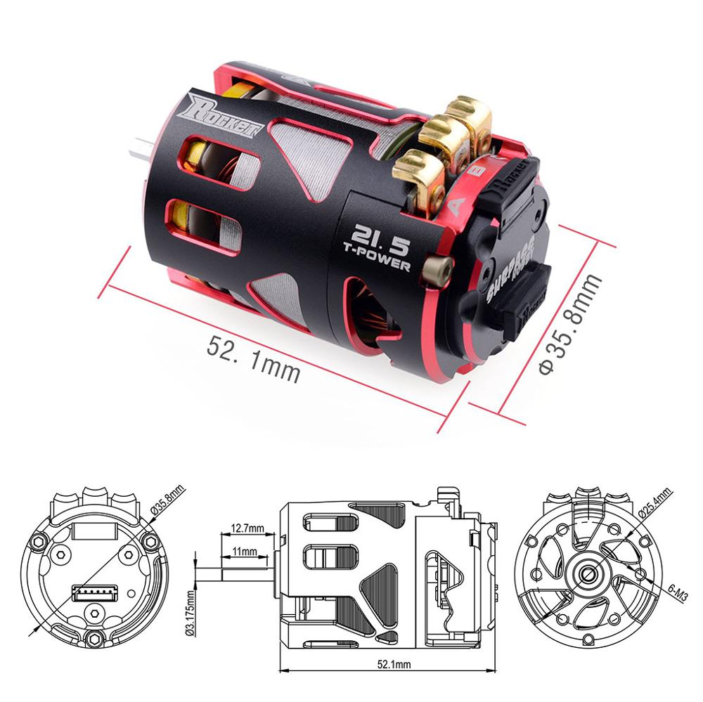 Image 2 - Rocket 540 V4S 13.5T 17.5T 21.5T 25.5T Sensored Brushless Motor and rotor for Spec Stock Competition 1/10 1/12 F1 RC Car-in Parts & Accessories from Toys & Hobbies