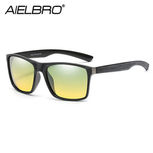 AIELBRO Resin Frame Polarized Lenses Day Night HD Vision Driving Glasses Best Goggles Men Women