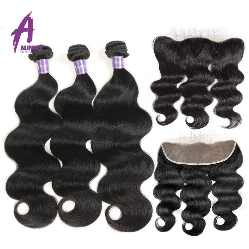 Peruvian Body Wave Bundles With Frontal Closure Human Hair Weave Bundles With Closure 13 4 Frontal