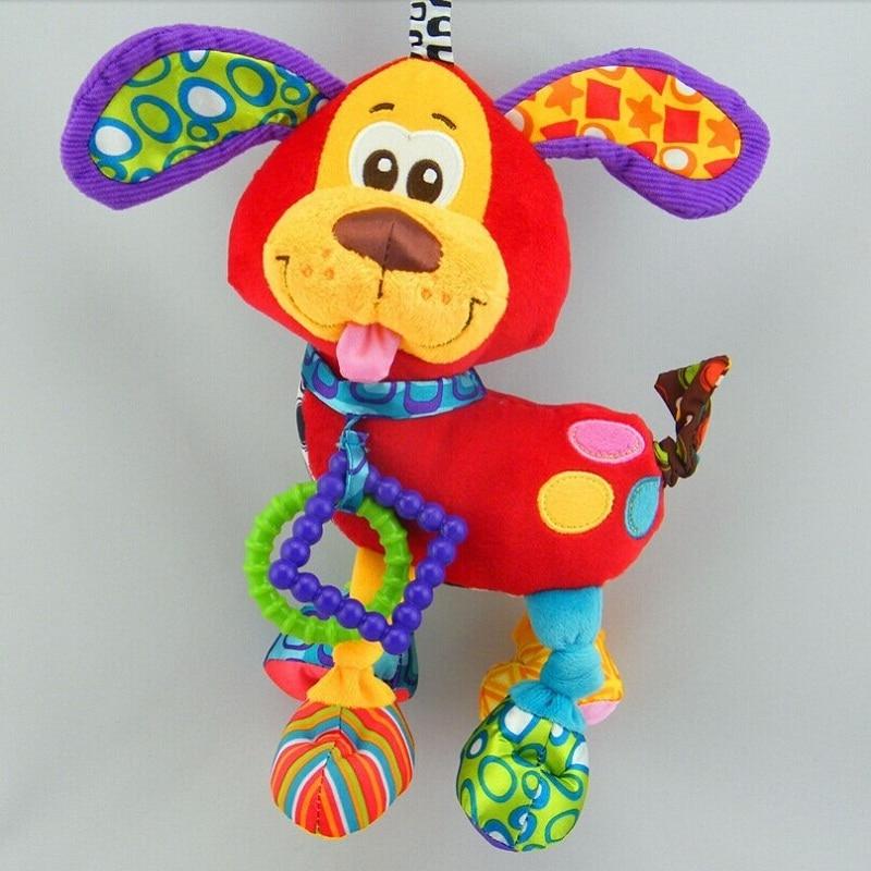 פלוש גוג מיטה עריסה תולה בייבי רוסית ואנגלית סגנון צעצועים חינוכיים טיולון ילדים רכים צעצועים מיטה תינוק נייד רטל