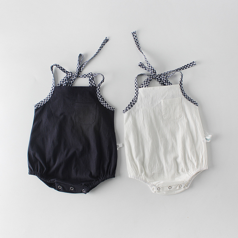 2019 Summer New boys&girls   Rompers   baby belt pockets   Romper   baby girl clothes boys baby kids cotton jumpsuit