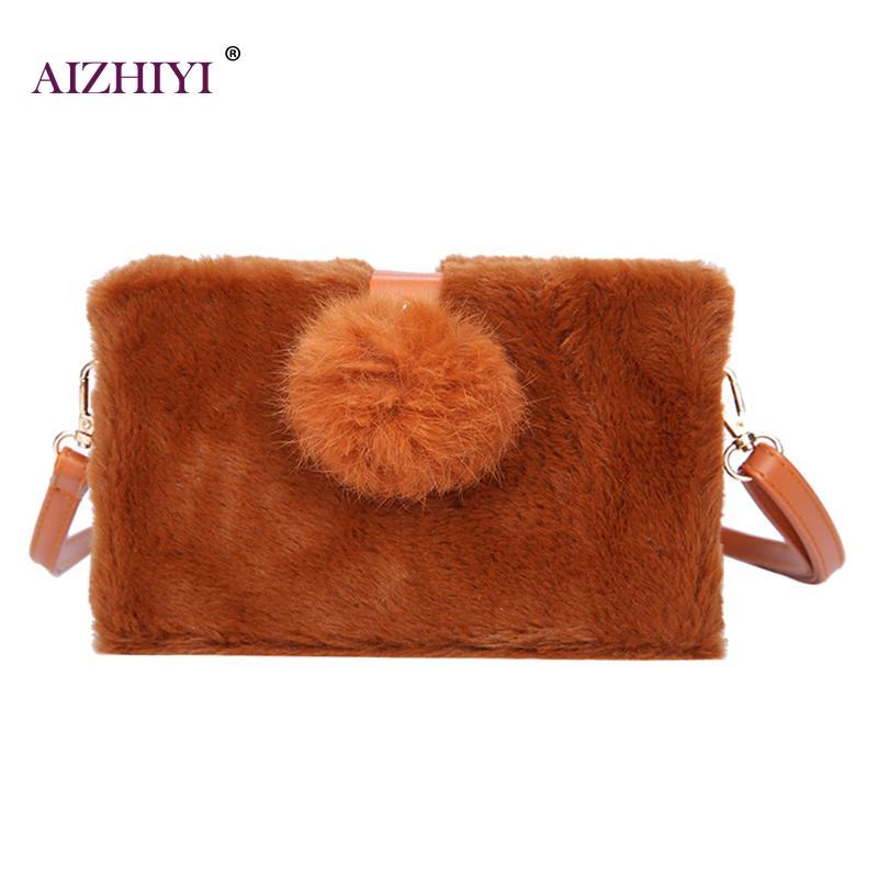 082e0eefd754 Faux Fur Women Crossbody Bags Handbags Fashion Top Handle Shoulder Bags For Women  Fur Purse Solid Fresh Ladies Messenger Bags-in Top-Handle Bags from ...