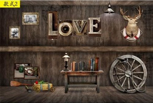 Custom Size Photo 3D Retro Wood Wheel Large Mural Wallpaper Cafe Restaurant Bar KTV Bedroom Wallpaper