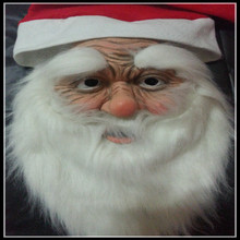 Halloween Christmas Cosplay Funny Super soft The Santa Claus Mask Wig Beard Costume Christmas Party Holiday Supply in stock