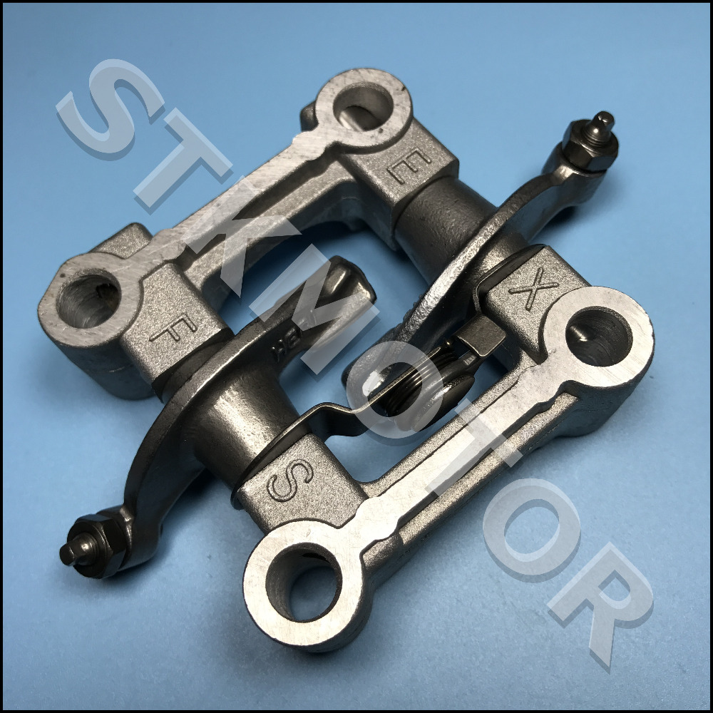 Gy6 125cc 150cc engine parts camshaft holder arm rocker assy chinese scooter parts atv parts znen