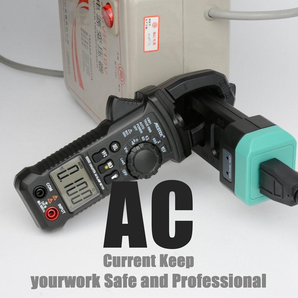 MESTEK CM81 pince numérique compteur vrai RMS multimètre 5999 compte AC/DC Volt Amp Ohm LowZ NCV Diode testeur avec lampe de poche vente