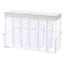 050 набор кухонных банок для специй бутылка приправ прозрачная