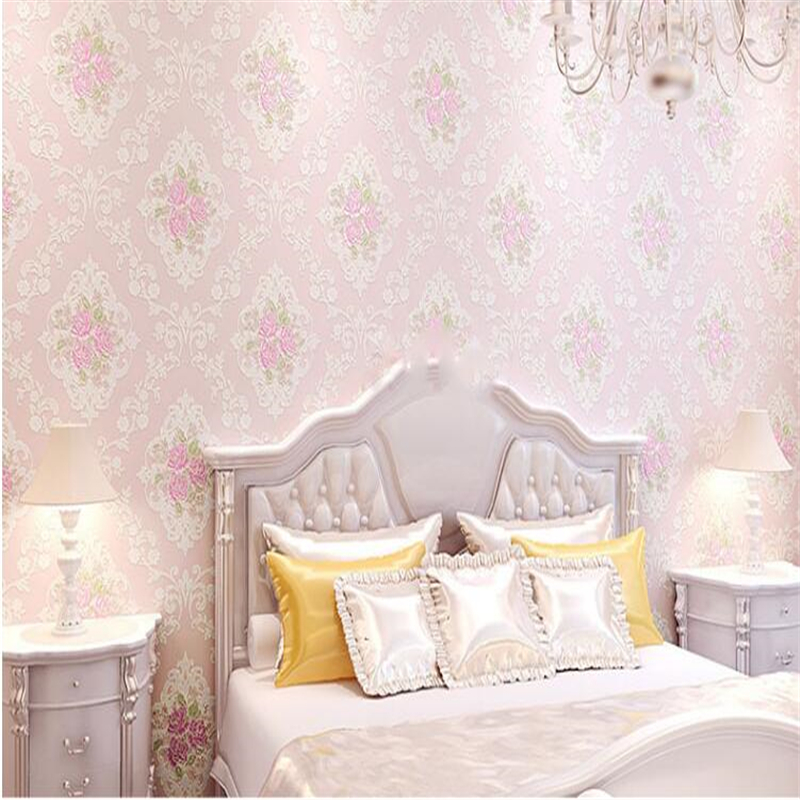 beibehang Rural environmental protection non woven wallpaper bedroom sweet romance 3d embossed wall paper papel de parede tapety beibehang wall paper pune environmental non woven american rural countryside flower painting style backdrop wallpaper bedroom