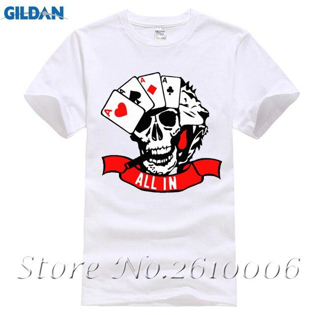 2017 Homens Da Forma do T-shirts De Poker T Camisas de Algodão Dos Homens e381a3f751bfb