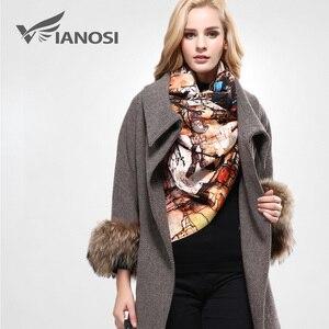 Image 3 - [VIANOSI] szalik markowy zima kobiety szalik kobieta wełna drukowanie szal najlepsza jakość Cashmere Studios ciepła kobieta okłady VA063