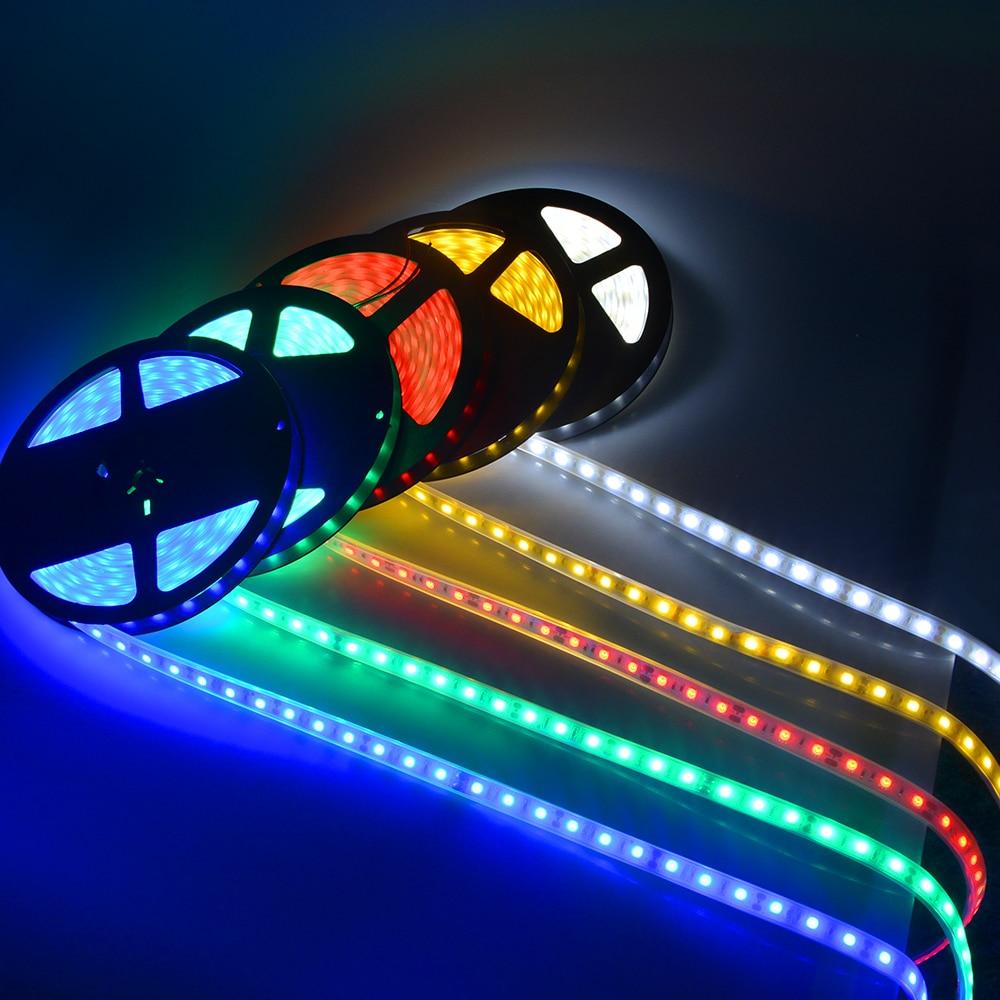Led Rope Light For Swimming Pool: DC 12V 5050 LED Strip IP67 Waterproof Flexible LED String