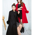 real fox fur sleeve decoraion wrist fur hoops jacket DIY rings fur cuff hand fox women coat cuffs