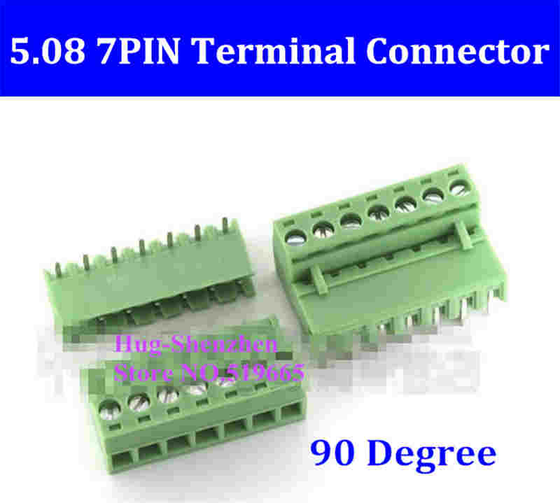 5.08 5.08mm 7pin 7-Pin Terminal plug type 300V 10A 5.08mm pitch connector pcb screw terminal block 90 degree 10 sets 5 08 2pin terminal plug type 300v 10a 5 08mm pitch connector pcb screw terminal block free shipping