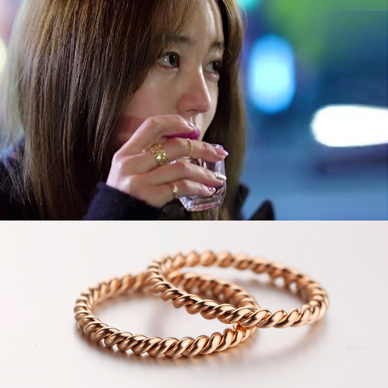 free shipping hot fashion jewelry fried dough twist for women Rose gold plating Titanium ...