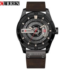 Image 1 - CURREN Hot Fashion Creative Watches Casual Military Quartz Sports Wristwatch Display Date Male Clock Hodinky Relogio Masculino