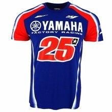 2017 Maverick Viñales 25 GP Moto Para Yamaha Factory Racing T-shirt T-shirt Ocasional dos homens Da Motocicleta