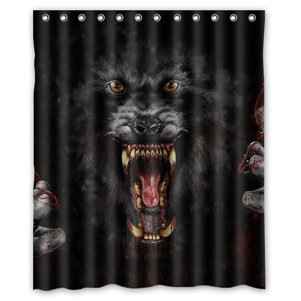 Dark knight shower curtain - Dark Werewolf Shower Curtain 60 X 72 Inch Bathroom China Mainland