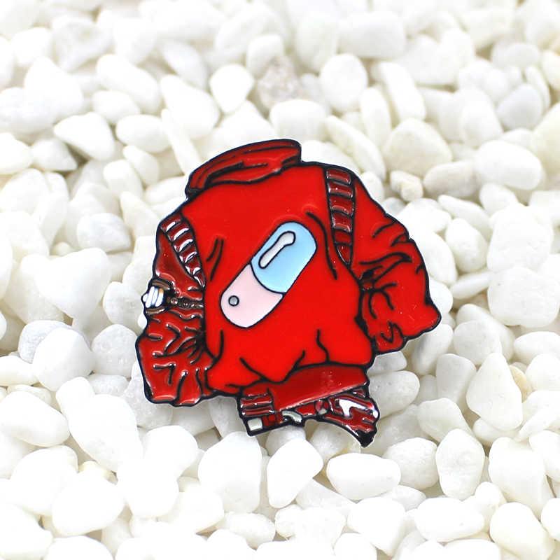 クリエイティブ個別赤外線ブローチセットカスタマイズされた衣類丸薬医学部ロゴバッジカウボーイ革バッグクールなファッションピン