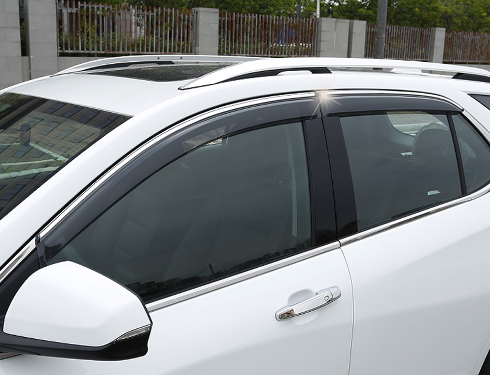 Pour Chevy Chevrolet Equinox 2018 2019 voiture accessoires fenêtre visière Vent ombre pluie soleil Vent garde déflecteurs avec garnitures chromées