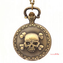 Simple Digital Skeleton Pattern Pocket Watch(NBW0PO8329-CO2)(China)
