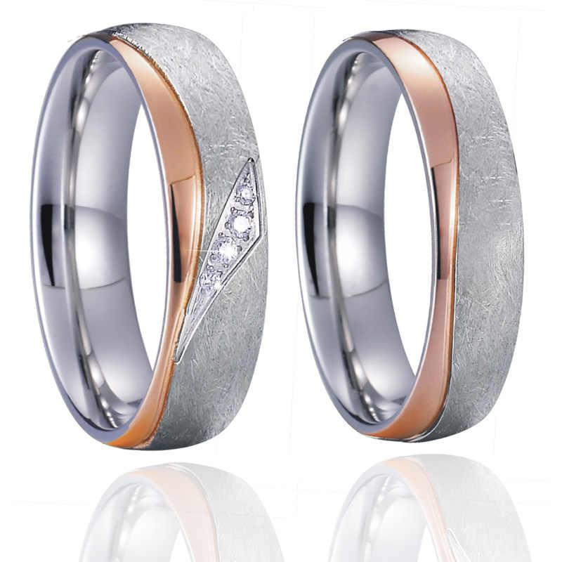 5cb70e8096614 Unique Anniversary wedding band couple ring men gold silver color ...