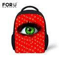 Довольно большие глаза зрачка печати розовый красный рюкзак для ребенка девушки mochila infantil дети рюкзак детский мини сумки bagpack эсколар