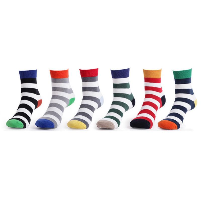 brand men winter Socks men male happy warm cotton socks stripes socks meia mens socks Colorful Series meias masculinas