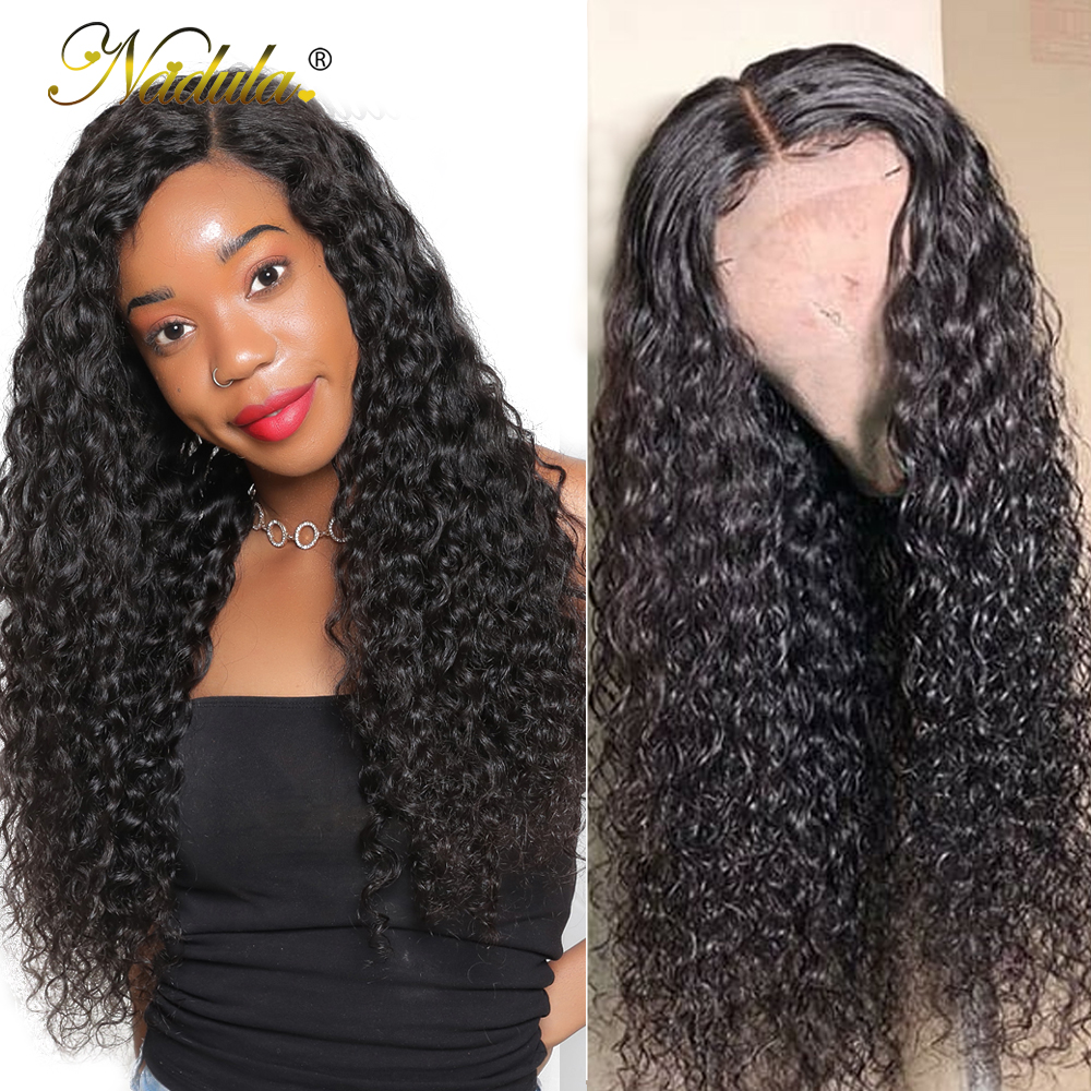 Nadula Hair Wigs Water-Wave Full-Lace Brazilian Baby Women with for Pre-Plucked Natural