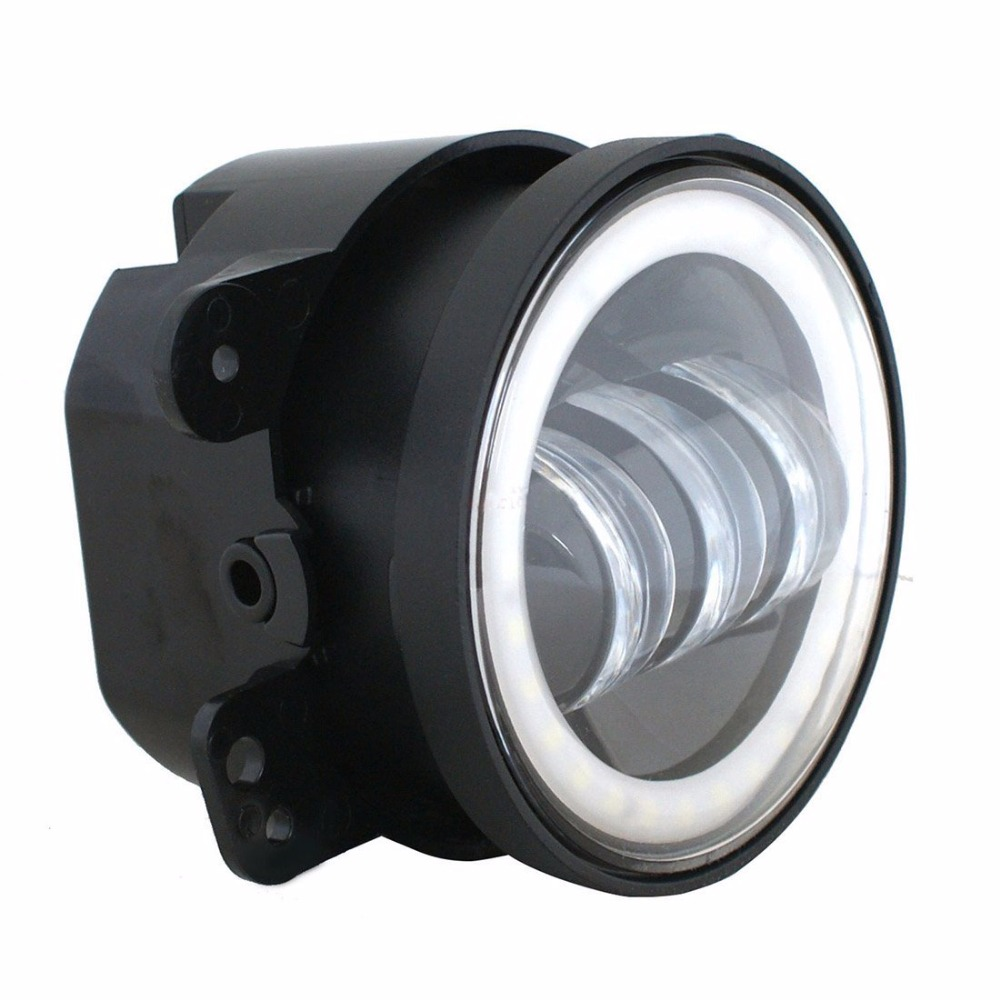 Best price new 4 inch round led fog lights 30w projector lens 12v best price new 4 inch round led fog lights 30w projector lens 12v driving auxiliary lamps for jeep wrangler jk off road in car light assembly from publicscrutiny Image collections