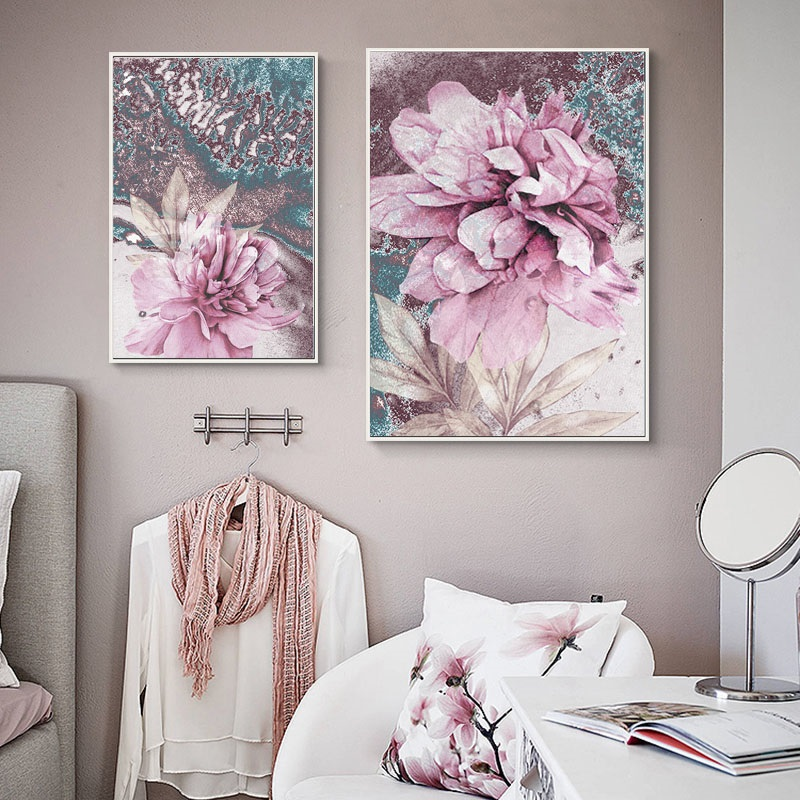 HTB1KgSAaIvrK1Rjy0Feq6ATmVXat Abstract Painting Scandinavian Poster Nordic Decoration Home Wall Art Flowers Posters And Prints Decorative Pictures Unframed