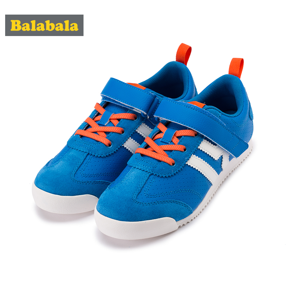Balabala Children Kid Breathable Trainers With Double Hook&Loop Fastener Toddler Girl Boy Anti-slip Casual Sneaker Running Shoes
