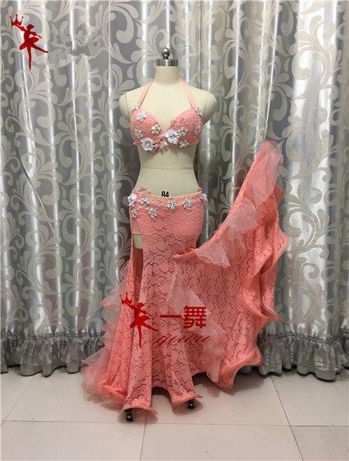 Anpassad Bellydance orientalisk mage indisk zigenare dansdans övning prestanda kostym kläder kläder kjol klänning set
