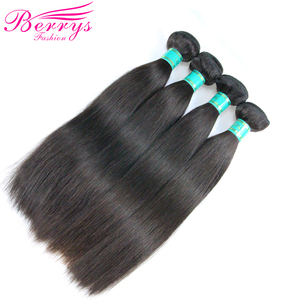 Image 5 - [Berrys Fashion]Brazilian 10A Grade Virgin Hair Straight 100% Unprocessed Human Hair Bundles Raw Weave 1/3/4 PCS Hair Extensions