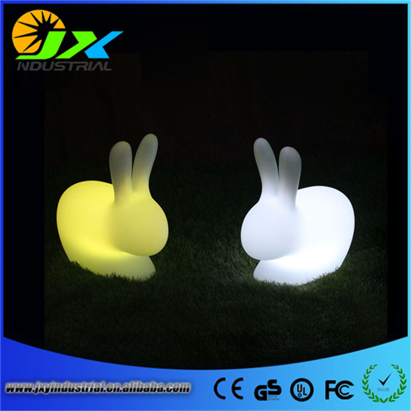 Creative Remote Control Hare LED Night Lamp Rechargeable Light Flash Rabbit Stool Classic Shop Hotel Bedroom Adornment