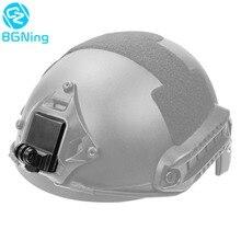 새로운 업그레이드 된 헬멧 고정 마운트베이스 어댑터 홀더 모든 GOPRO 3 4 5 6 7 8 SJcam / Yi 액션 비디오 스포츠 카메라 액세서리