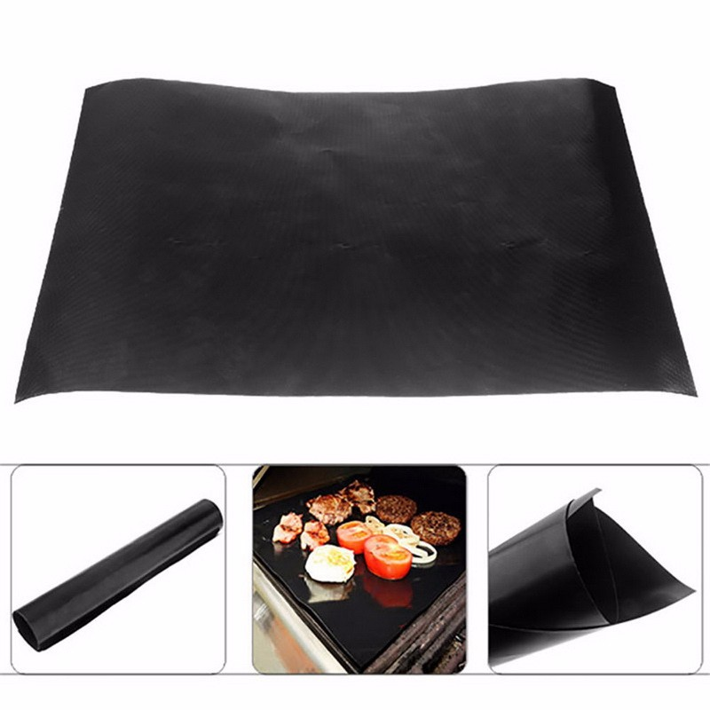 WOFO 40*50CM Non-stick Barbecue Pad Mat Outdoor Wild Barbecue Equipment Teflon High Temperature BBQ Tools (Pack of 5)