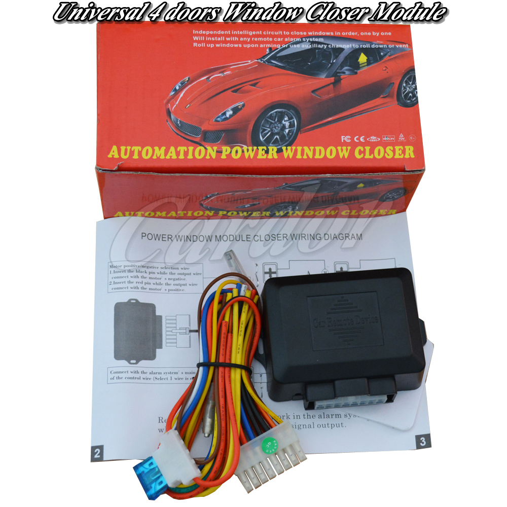 Remote Keyless Entry Push Start Stop Engine System Rfid Arm Or Car Lift Wiring Diagram Universal Auto Window Closer Module4 Doors Windows When Excute Lock Action