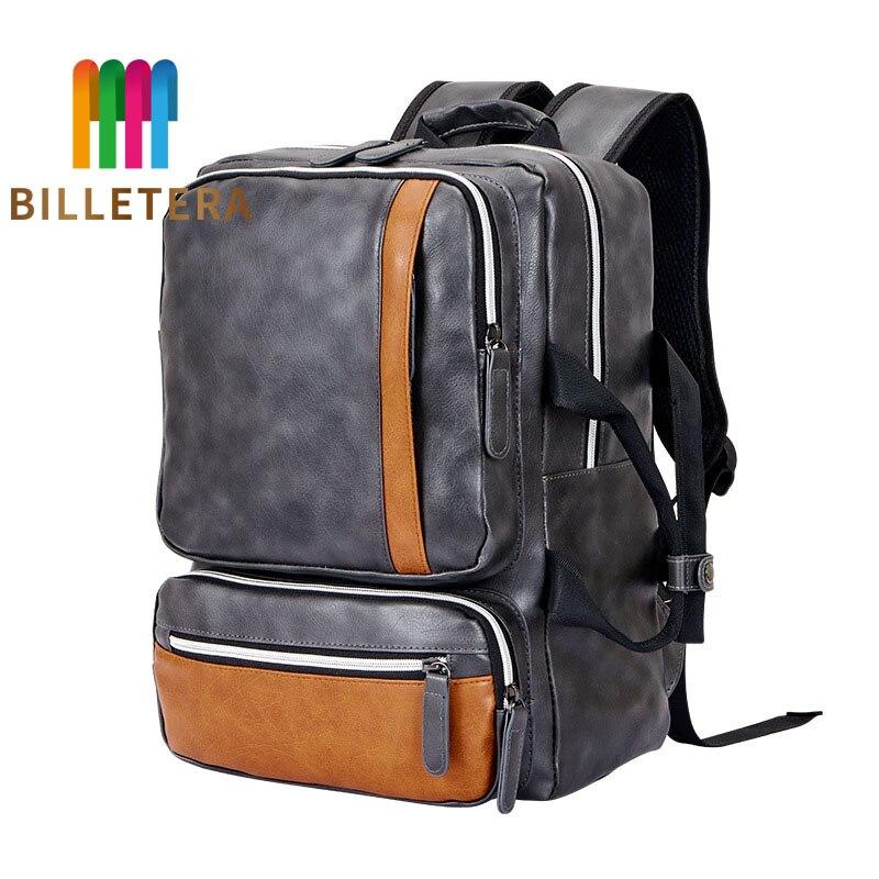 Sac à dos homme BILLETERA sacoche pour ordinateur portable grande capacité pour homme Vintage sacs à dos de voyage homme