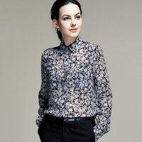 100% Ipek Şifon Gömlek Saf Ipek Şifon Bluzlar Kadın Gömlek Ofis Lady Gömlek Toptan Ücretsiz Kargo