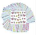50sheets Retail Mixed Flower 50Styles Water Transfer Sticker Nail Art Decals Beautiful DIY Decor Temporary Tattoos