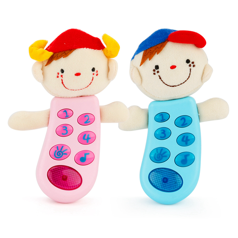 Hot Selling New Arrival Baby Toys Cartoon Color Console With Light Cute Safe Plastic Toys 2 Colors image