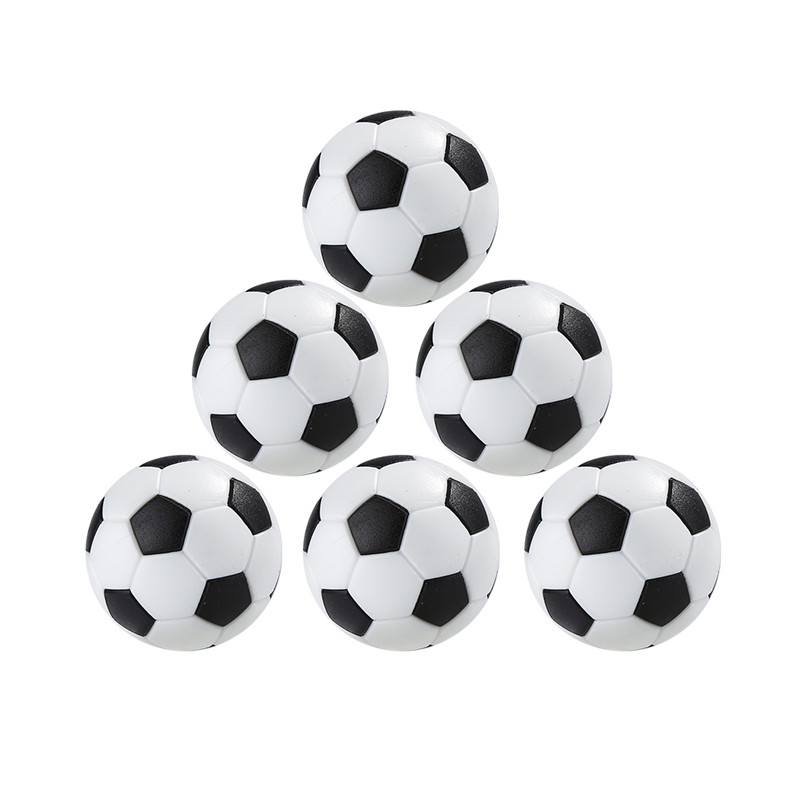 Balck and White 4PCS Table Football Practical Indoor Table Game Soccer Table Entertainment Football Tool Kid Play Toy Equipment