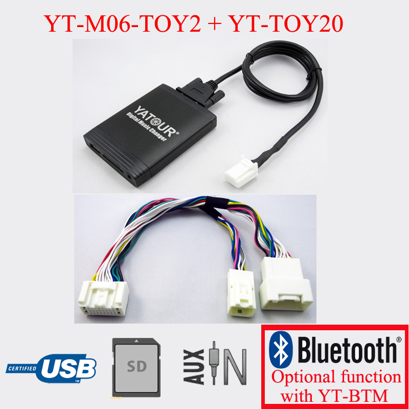 Yatour car radio USB SD player for Lexus radio 20pin LS430 2001-2003 yatour car digital music cd changer aux mp3 sd usb adapter 17pin connector for bmw motorrad k1200lt r1200lt 1997 2004 radios