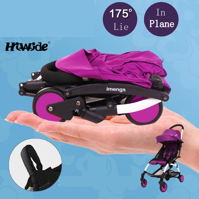 IMENGS cochecito de bebé plegable ultra portátil puede sentarse y acostarse en el avión cochecito cesta paraguas con bolsa de viaje