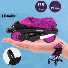 IMENGS fold bébé poussette ultra portable peut s'asseoir et se coucher sur le plan parapluie panier avec voyage sac landau
