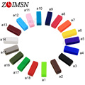 ZLIMSN 4pcs Black Watchbands Silicone Rubber Replacement Watch Band Strap Small Rubber Loop Holder Locker Relojes Hombre GK01