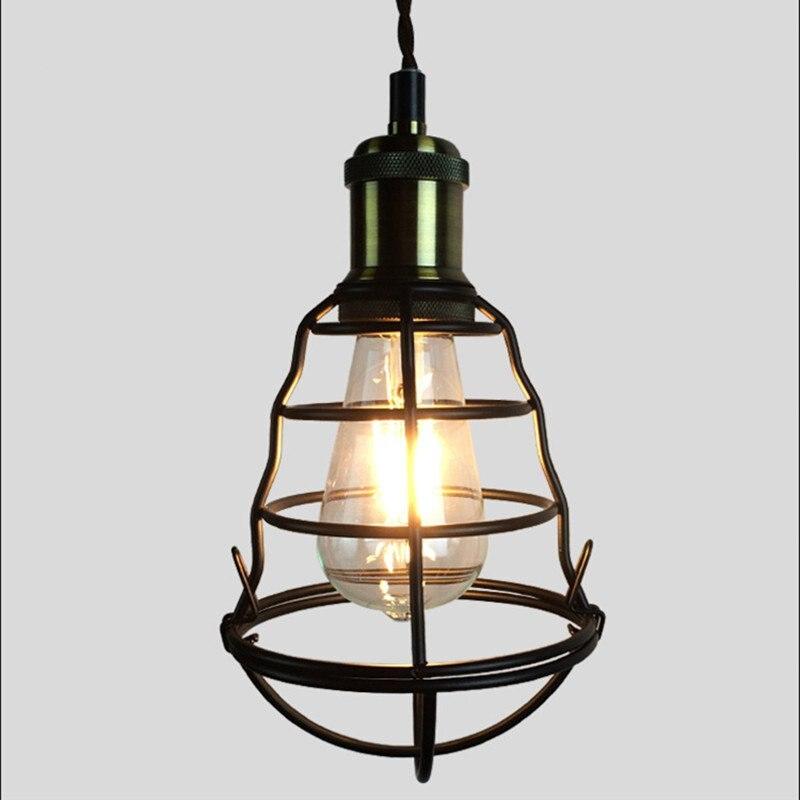 New American Village Creative Art Pendant light Personalized Creative Cage Pendant lamp for Restaurant Coffee bar Clothes Shop цена 2017