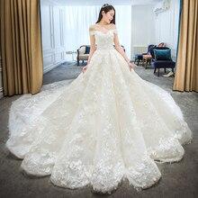 SIJANEWEDDING Vestido de Noiva Lace big Wedding Party Dress