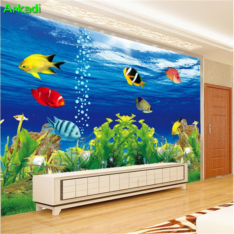 Custom photo 3D wallpaper TV background wall fantasy underwater world theme museum living room lounge bar custom environmental image